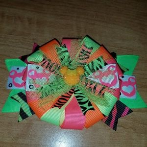Other - Neon Minnie Mouse bow